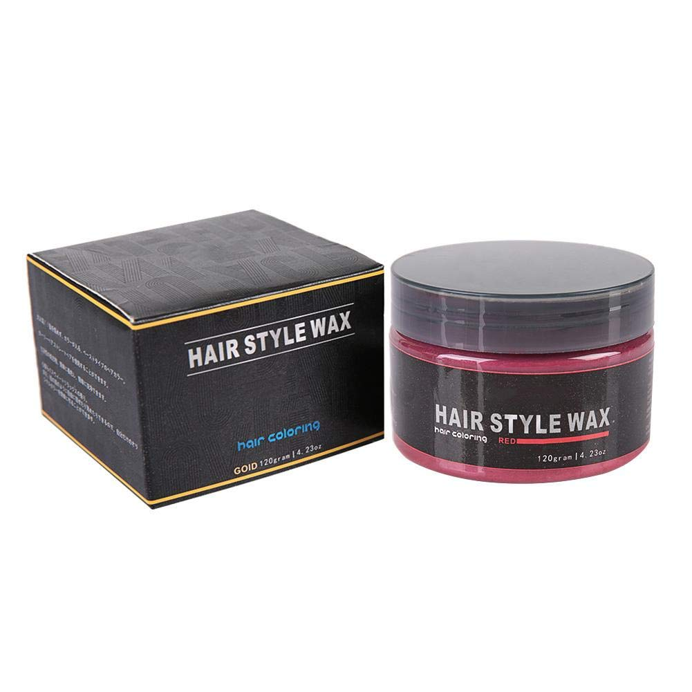 Zerone Color Hair Wax Styling Pomade Disposable Hair Dye Coloring Mud Hairstyle Modeling Cream 120g