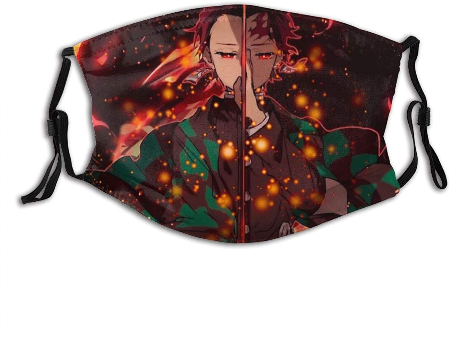 Japanese Anime Comic Adult Outdoor Mask,Protective 5-Layer Activated Carbon Filters for Men Women Bandana