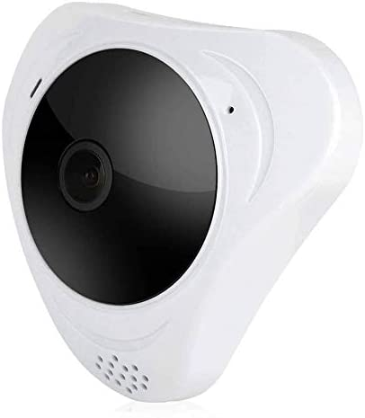 Surveillance Security Camera, 3MP HD 360 Degree Panoramic ONVIF WiFi Wireless IP Fish Eye Camera with Motion Detection,IR Infrared Night Vision for Home Office (US)