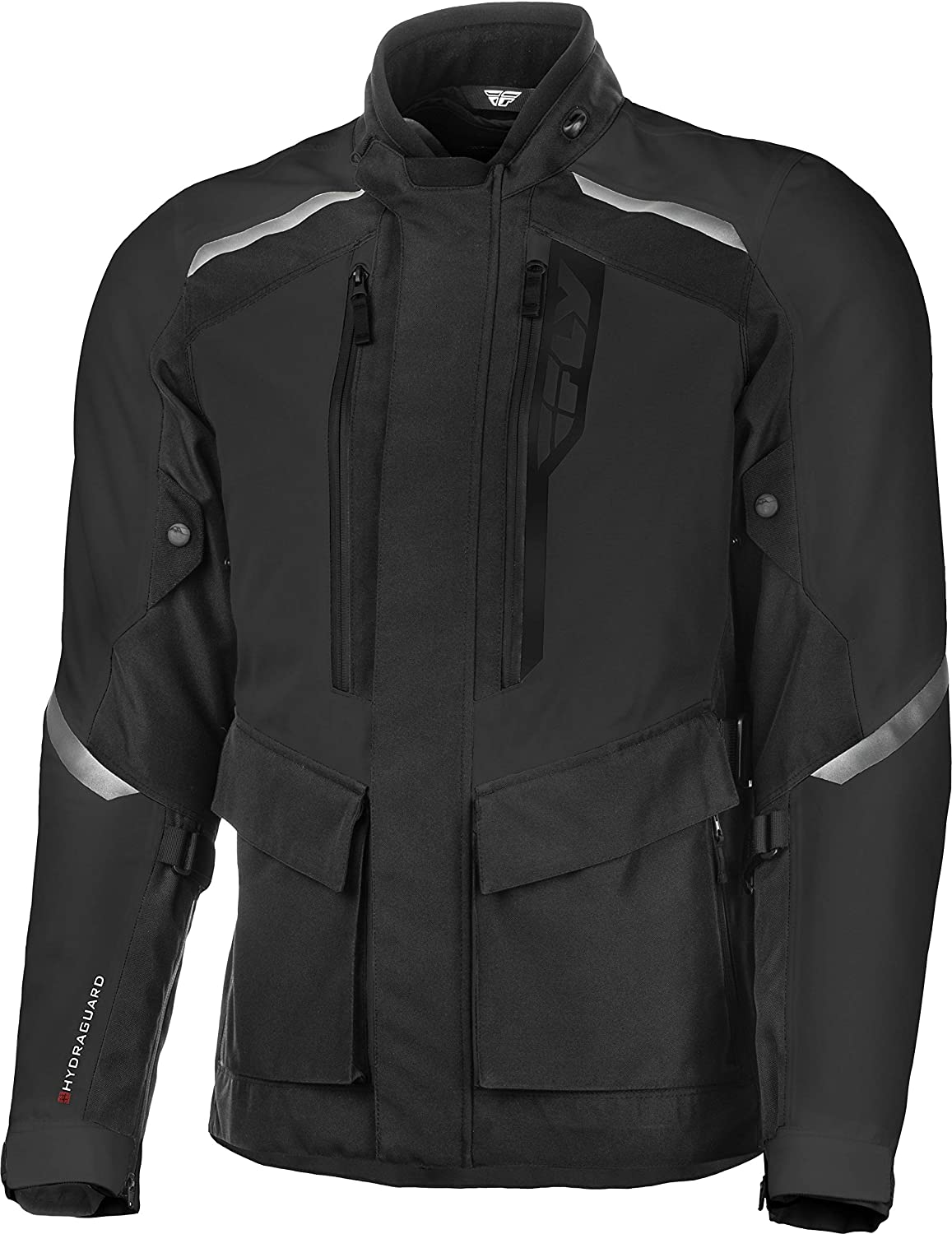 FLY Racing Terra Trek Adventure Motorcycle Jacket, Protective Motorcycle Gear with Body Armor (BLACK, 2X TALL)