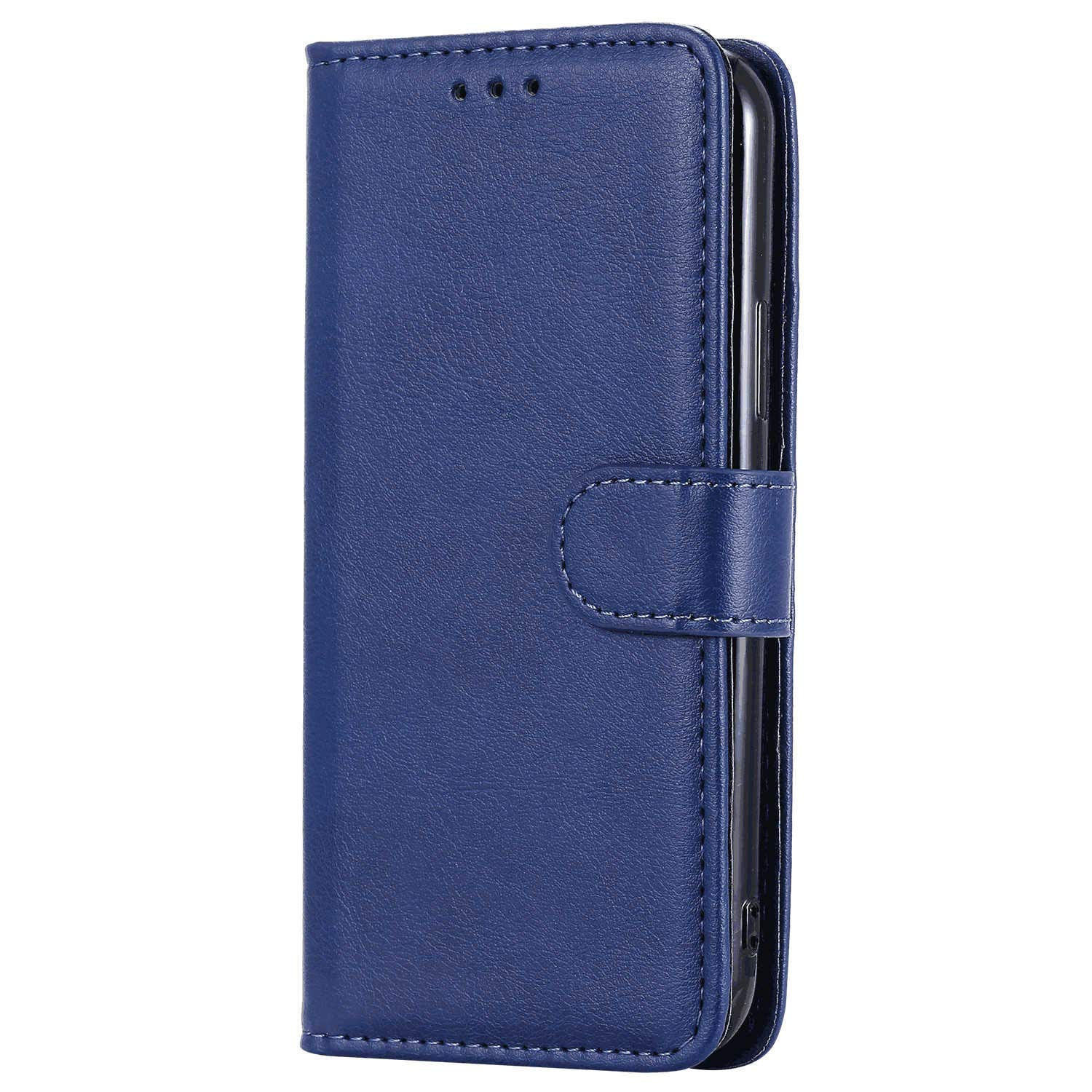 Leather Cover Compatible with iPhone 11 Pro Max, Blue Wallet Case for iPhone 11 Pro Max