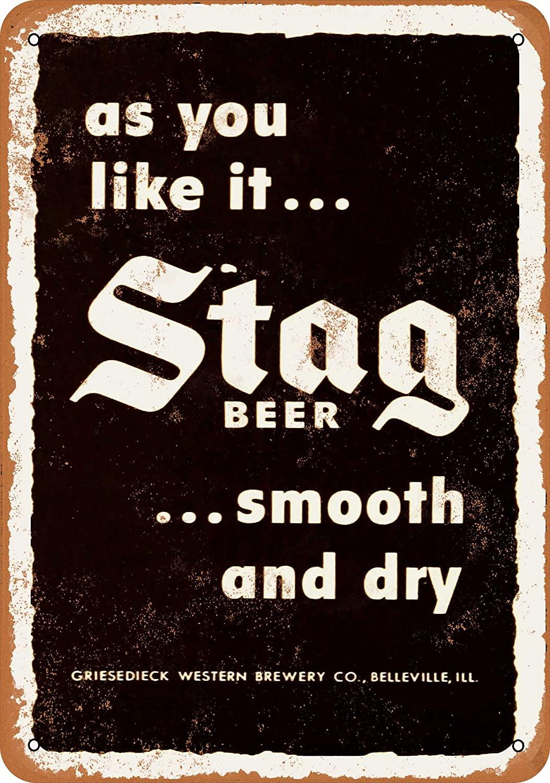 Wall-Color 9 x 12 Metal Sign - 1949 Stag Beer - Vintage Look