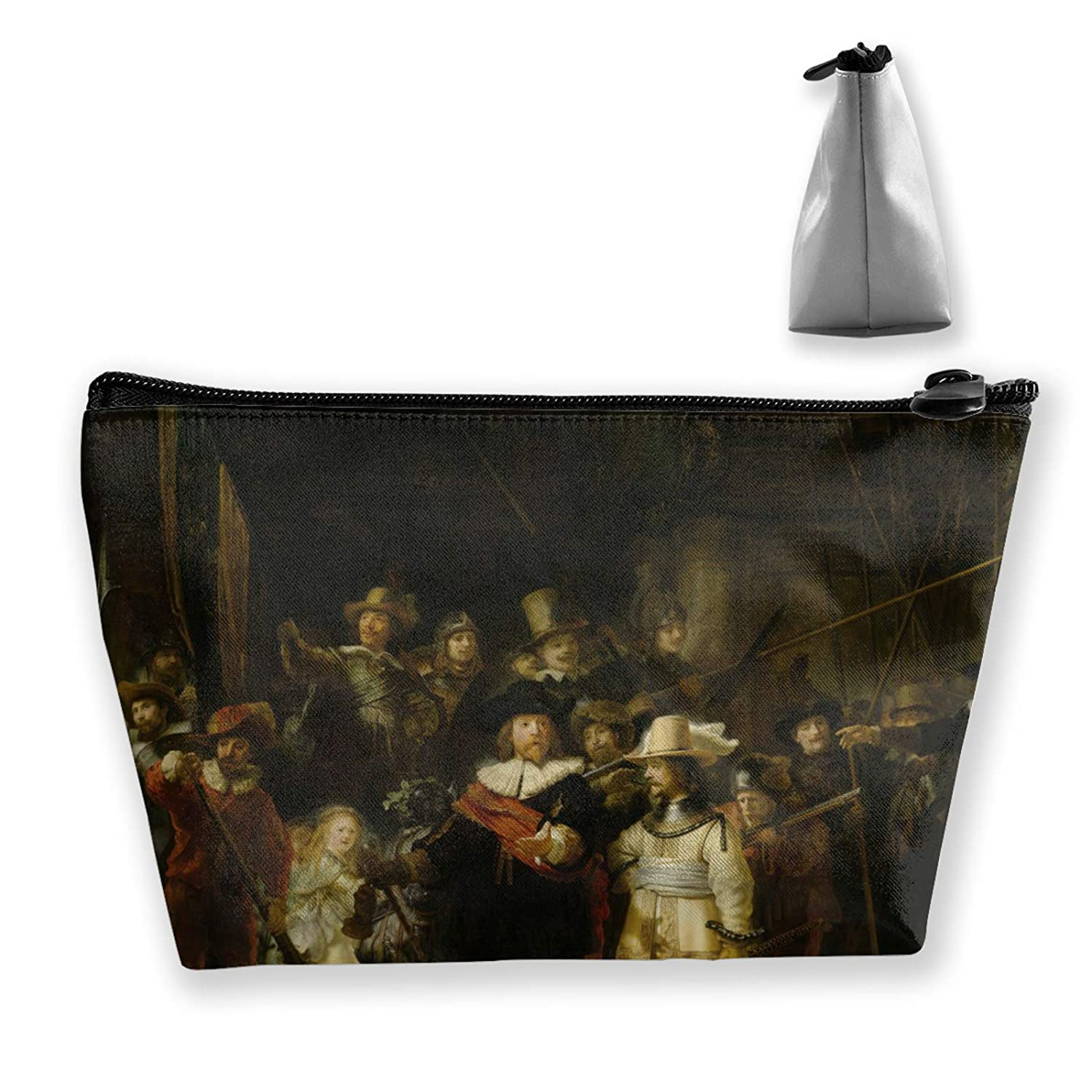 The Night Watch Rembrandt Makeup Pouch For Women Girls Ladies Portable Artist For Toiletry Digital Accessories Travel