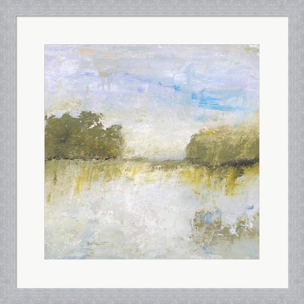 The Fields I Call Home by Lisa Mann Fine Art Framed Art Print Wall Picture, Slim Silver Frame, 19 x 19 inches