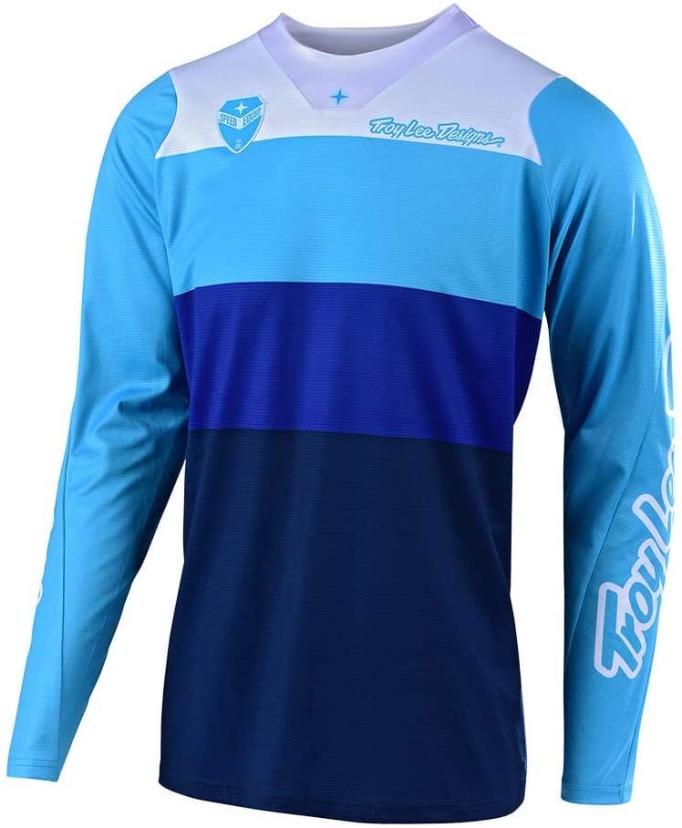 Troy Lee Designs Men's Off-Road Motocross Motorcycle SE Beta Jersey (Blue, X-Large)