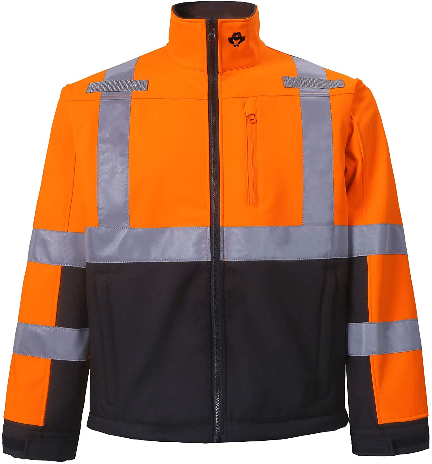 High Viz Softshell Jacket for Men and Women, Safety Outdoor Clothing for Winter - Can be used for Running, Biking, Skiing - Ansi Class 3 High Visibility (Medium, Orange, 1 Piece)