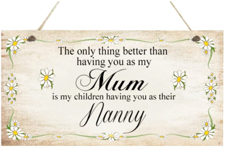 NUOLUX Mothers Day Gift Wall Plaque Sign Wooden Funny Sign