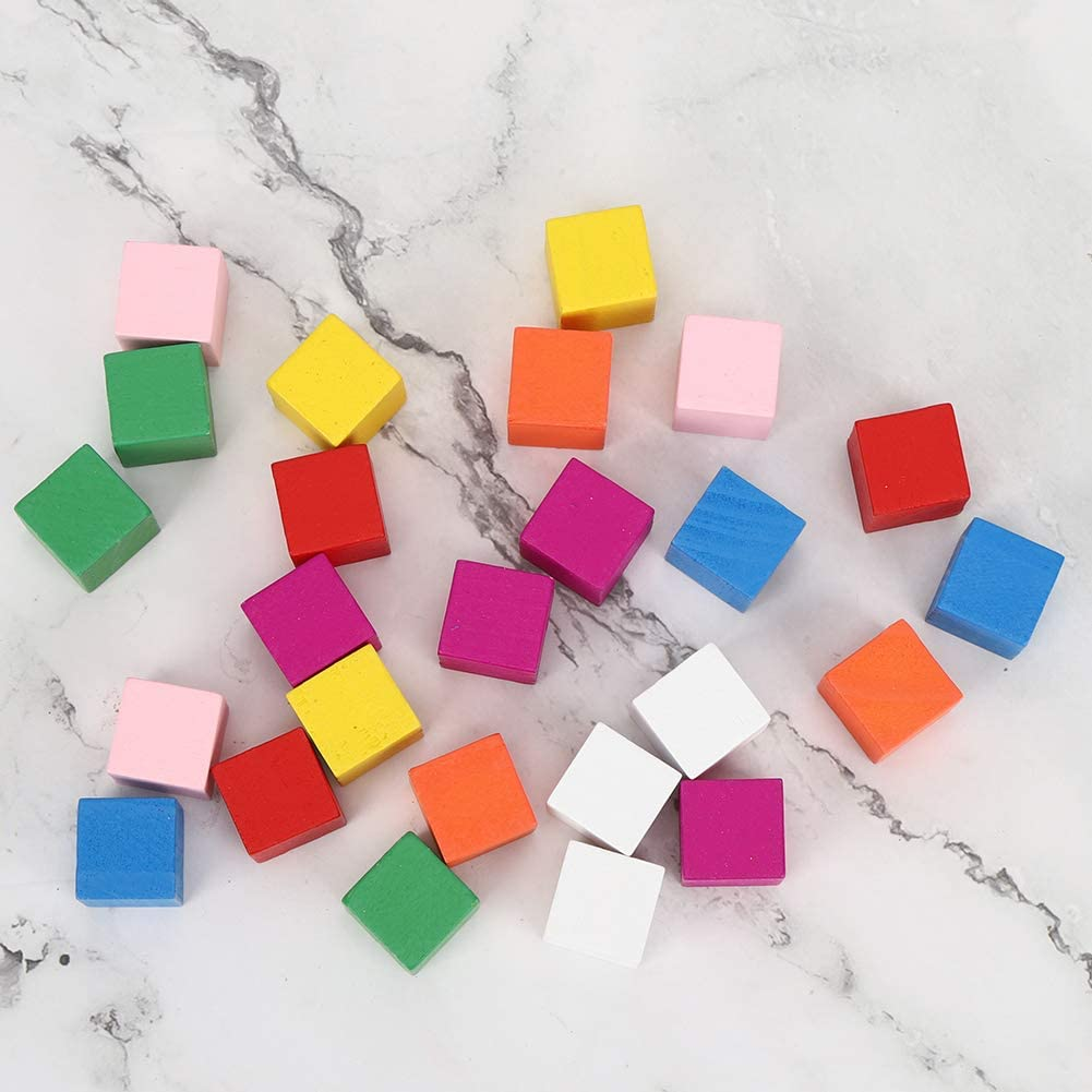 Safe Colored Block Set, Environmentally Friendly Simple to Play Colored Block Toy, Promote Hand-Eye Coordination for Children for Kids(20mm25)
