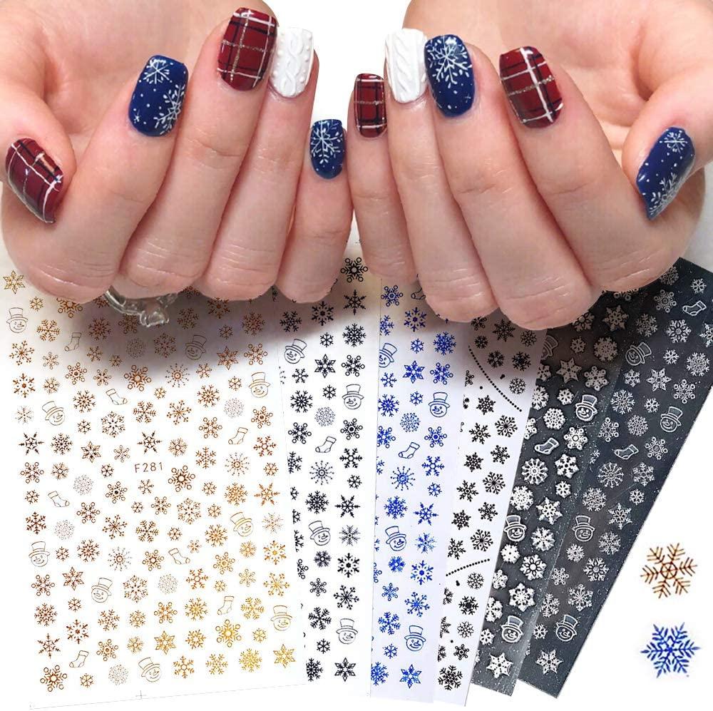 20pcs Christmas Nail Sticker Decals Snowflake Christmas Wrap Snowman Winter Nail Art Decoration Manicure Tools Slider Nail Deceraton