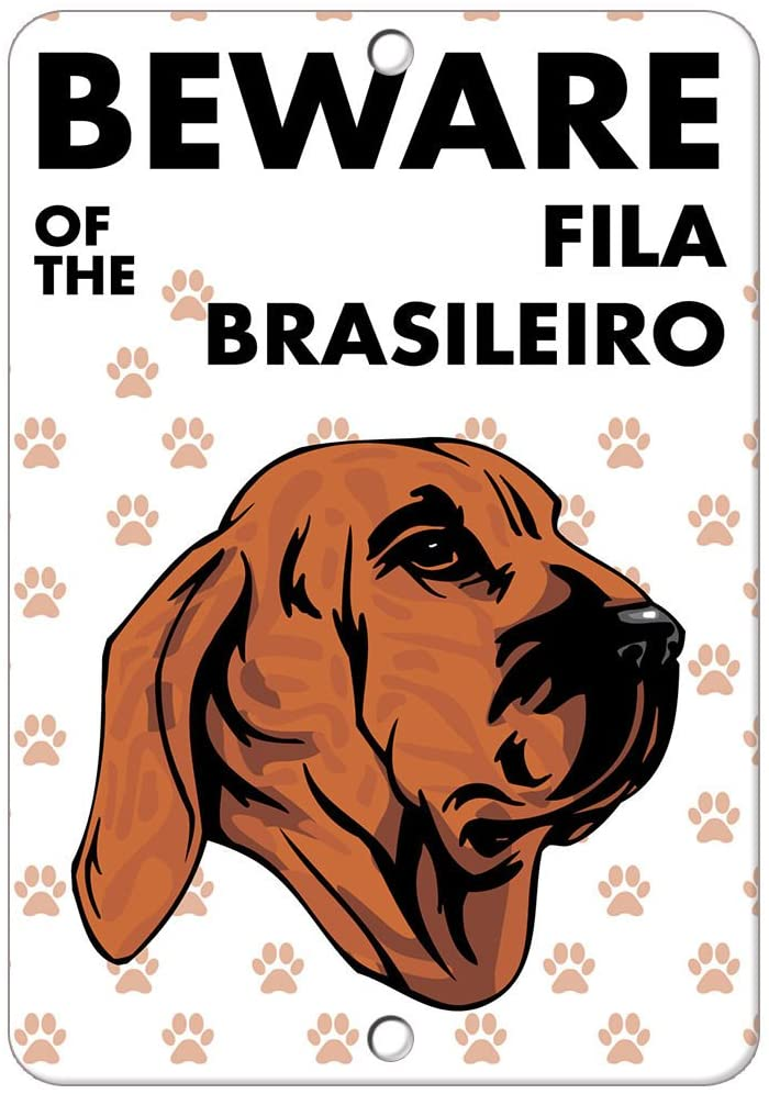 Beware of FILA Brasileiro Dog Sign Vinyl Sticker Decal 8