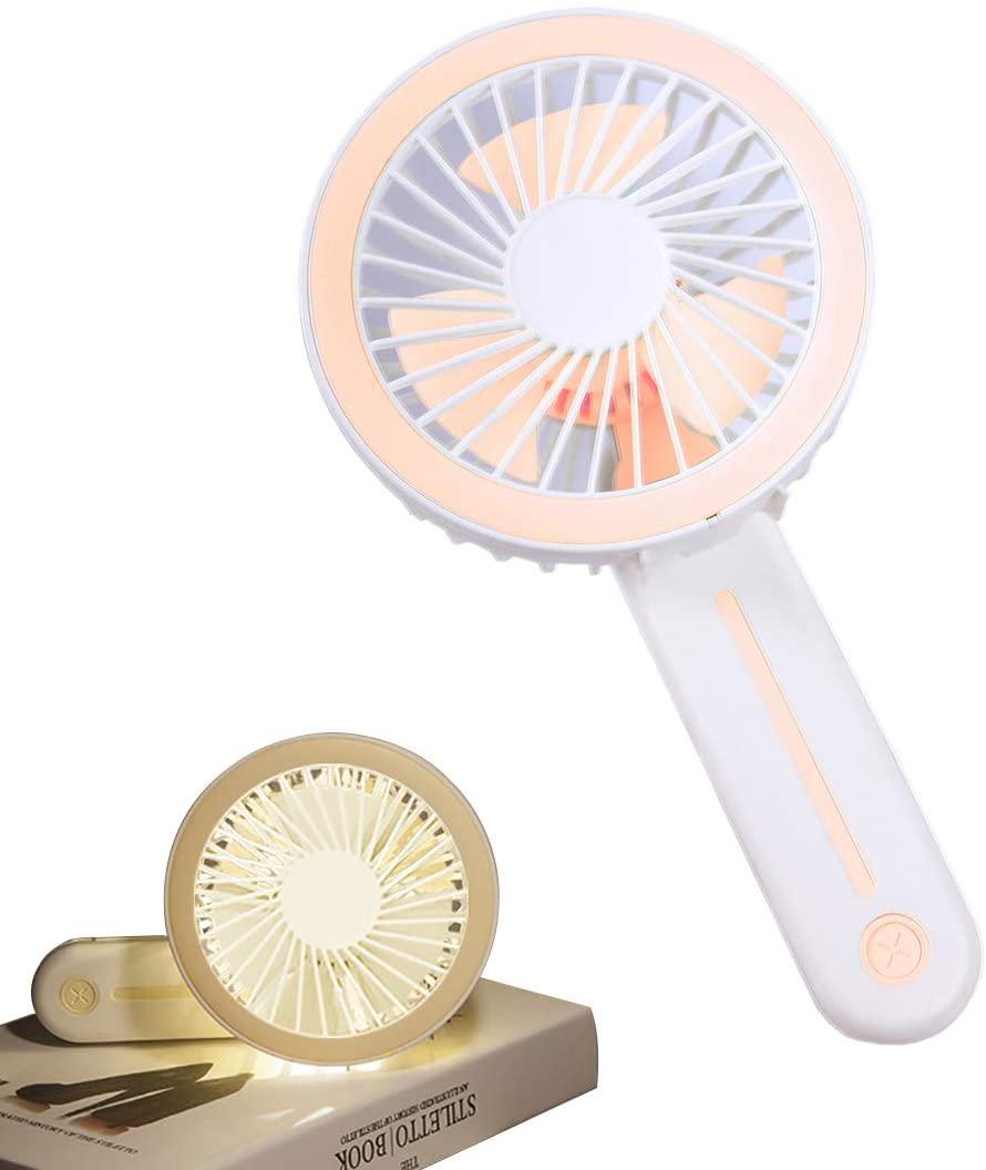 Amlanpin Handheld Fan,Mini Desk Fan,Personal Portable Small Table Fan with USB Rechargeable Battery Operated Electric Fan