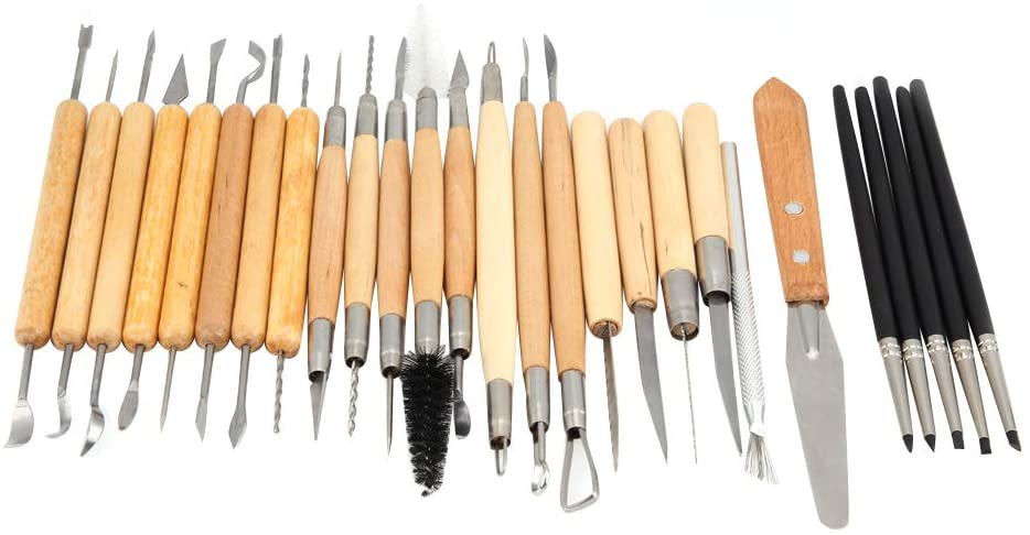 27Pcs Ceramic Clay Tools Set DIY Clay Carving Sculpture Tools for Beginners Pottery Modeling Clay Sculpture