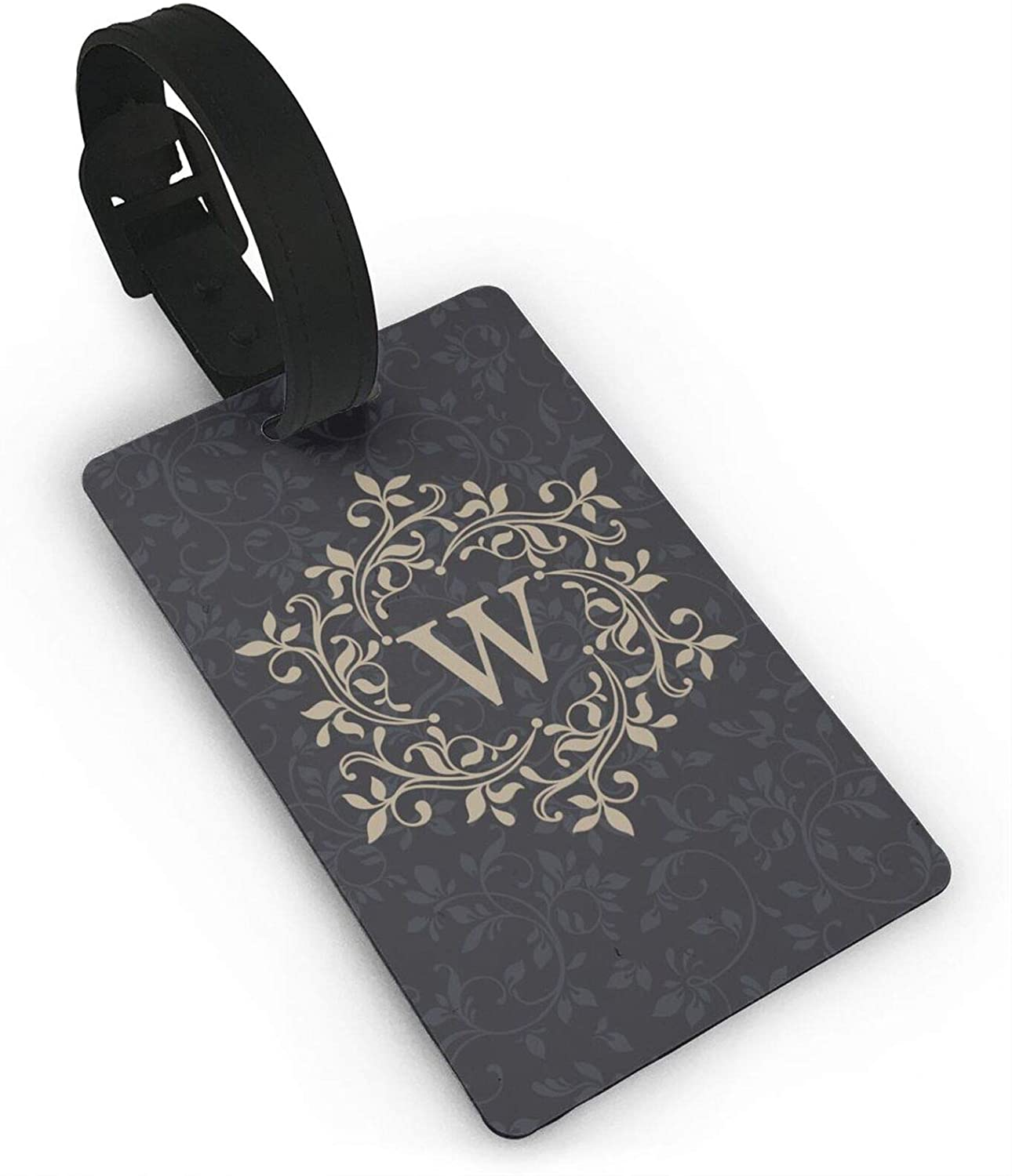 Letter W Small Luggage Tags For Suitcases PVC Travel Bag Tags Eaiser To Identify Name ID Labels And Address Card