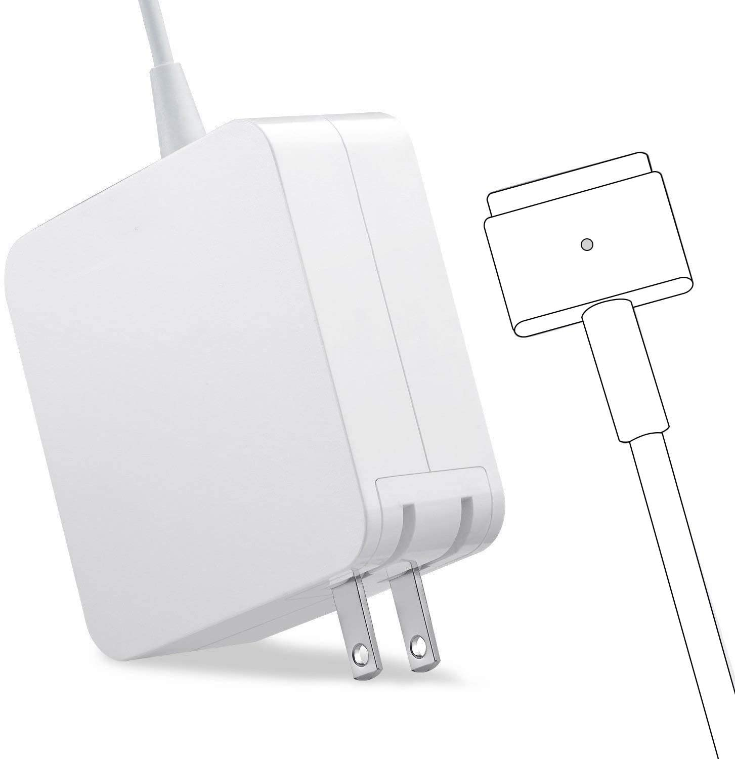 Mac Book Pro Charger, AC 85w Power Adapter T-Tip Adapter Charger Connector for Mac Book Pro 13/15/17 Inch(Made After Mid 2012)
