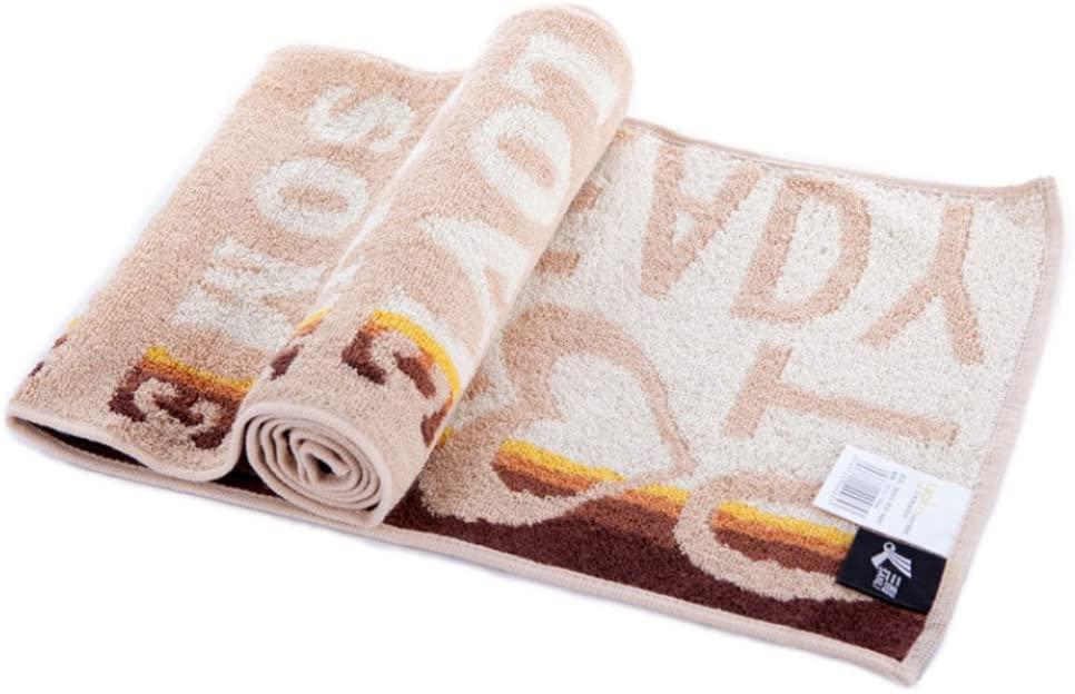 PANDA SUPERSTORE [Beige] Cute Heart Cotton Active-Dry Golf/Yoga/Workout Towel, 9