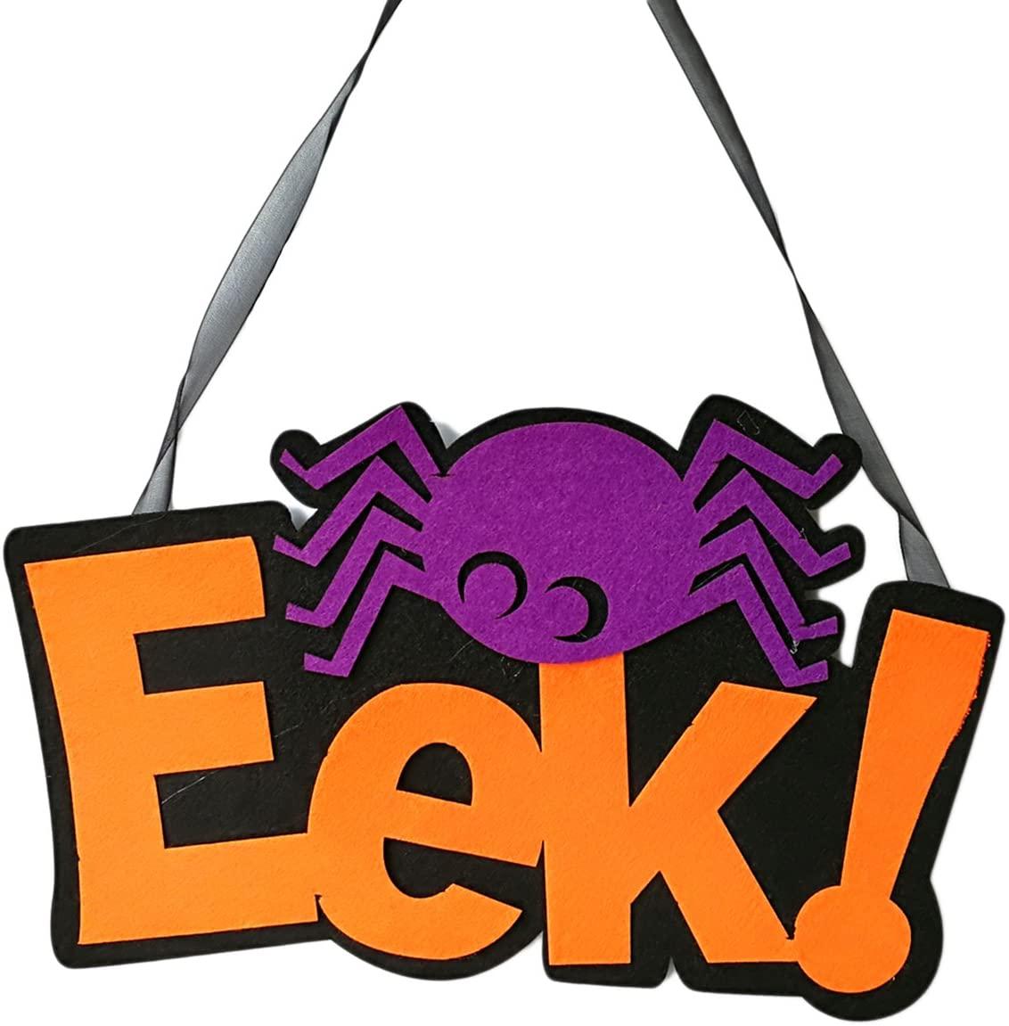 EEK Halloween Non-woven Hanging with Spider Wall Door Home Decoration Halloween Party Supplies