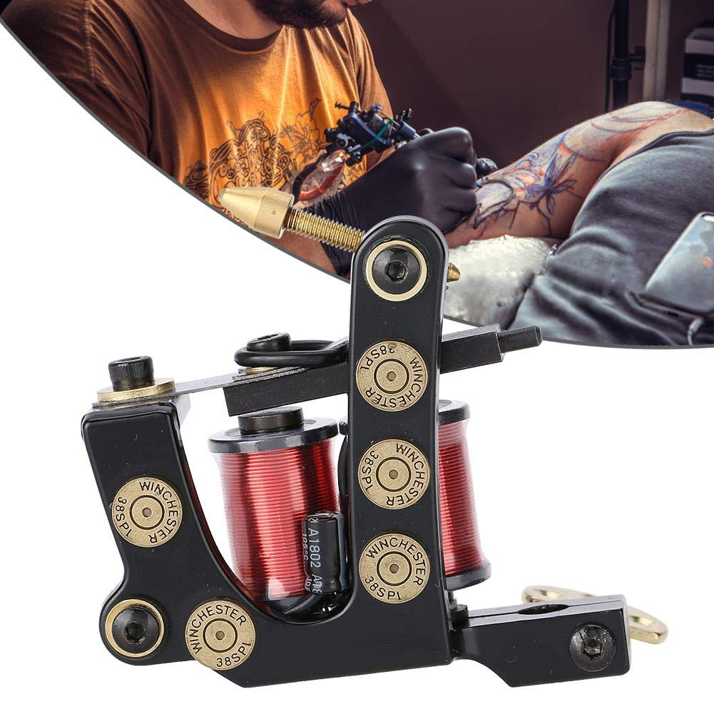 (8 Wraps) Tattoo copper coil, professional tattoo machine/copper coil, tattoo pad shader, body art tool gun, tattoo advanced bag, suitable for beginners kit