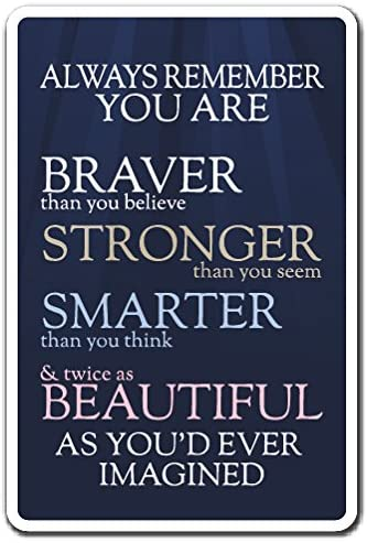 Always Remember You are Sign Motivation Quote Inspiration | Indoor/Outdoor | 20