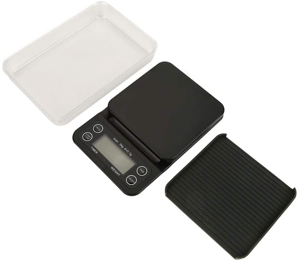 Fafeicy 3kg 0.1g LCD Electronic Drip Coffee Gram Scale, Kitchen Food Scale with LCD Screen