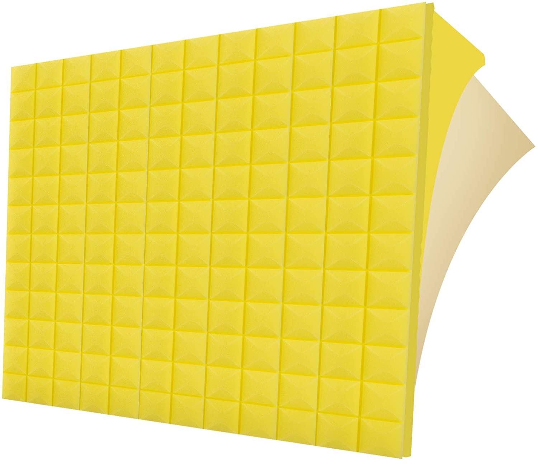 G-WACK 12 Pack SELF-ADHESIVE Sound Proof Foam Panels, 1.5