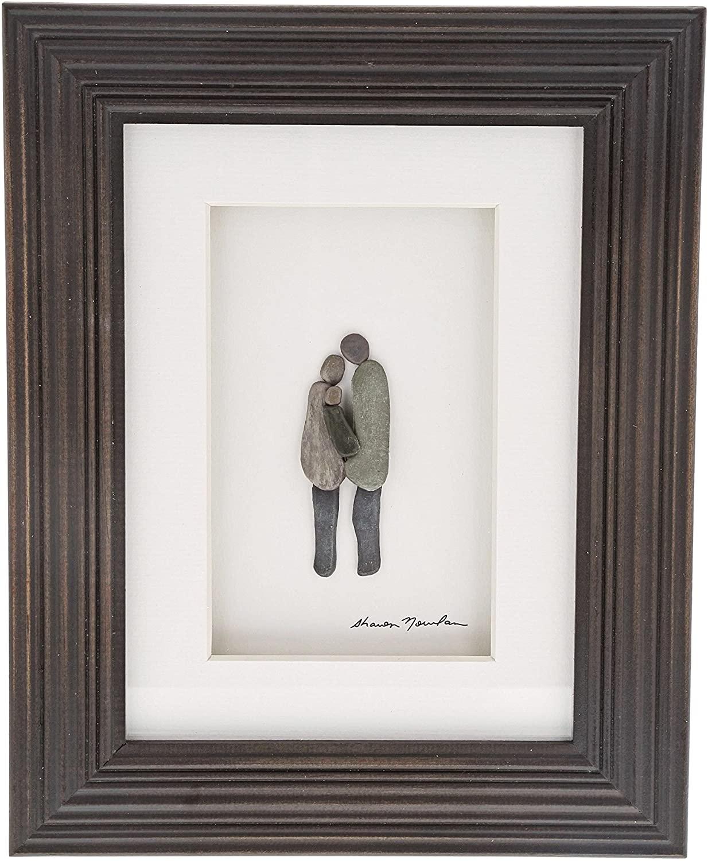 Sharon Nowlan Plus One Espresso Finish 8 x 10 Dimensional Framed Wall Art Plaque