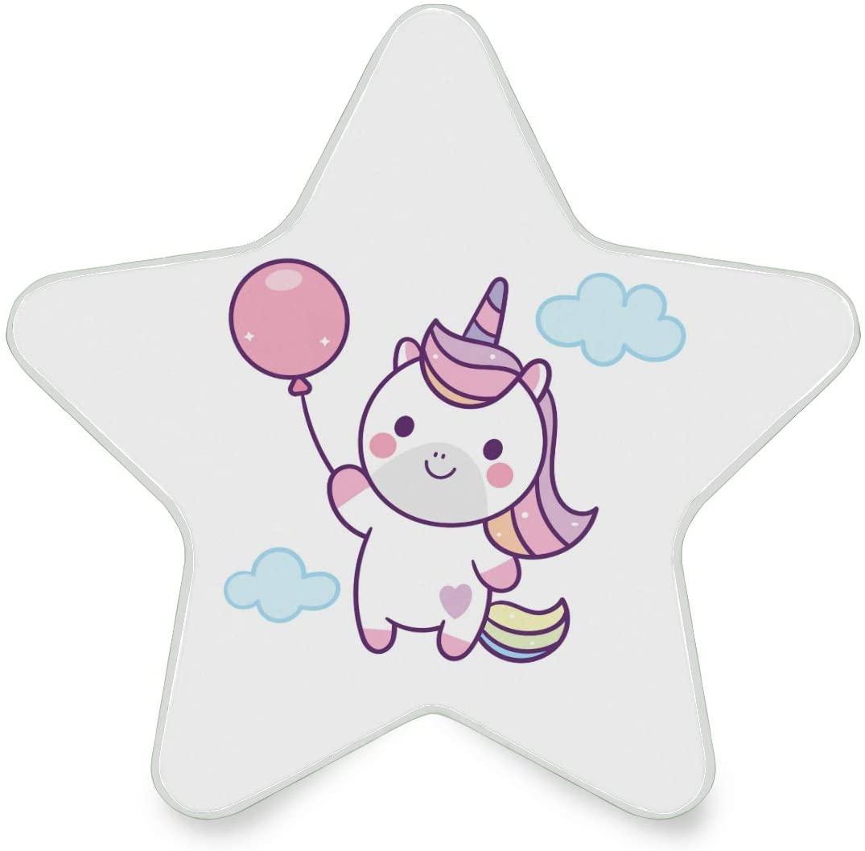 YYZZH Cute Unicorn Holding Balloon Night Light Led Nightlight Plug in Auto On Off Indoor Decorative Creative Starlike