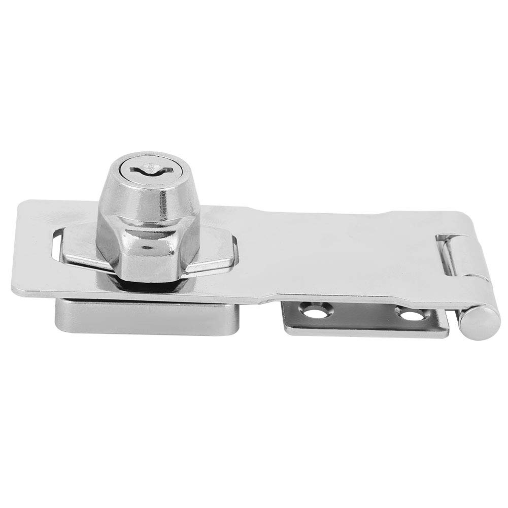 No Deformation Hasp Lock, Simple Structure Long Service Life Keyed Hasp Lock, Smooth Surface Safety Locking Hasp, for Home Furniture