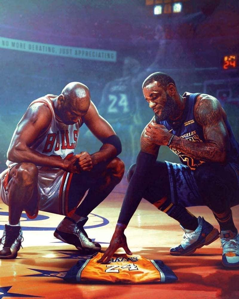 Kobe Bryant Lebron James Michael Jordan Poster, NBA Legends Picture Print Wall Art Decor All Star Tribute Fan Memorabilia Gift for Basketball Sports Fan 18×24