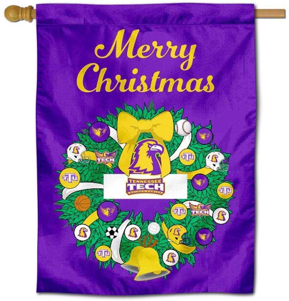 Tennessee Tech Golden Eagles Happy Holidays Christmas Banner Flag