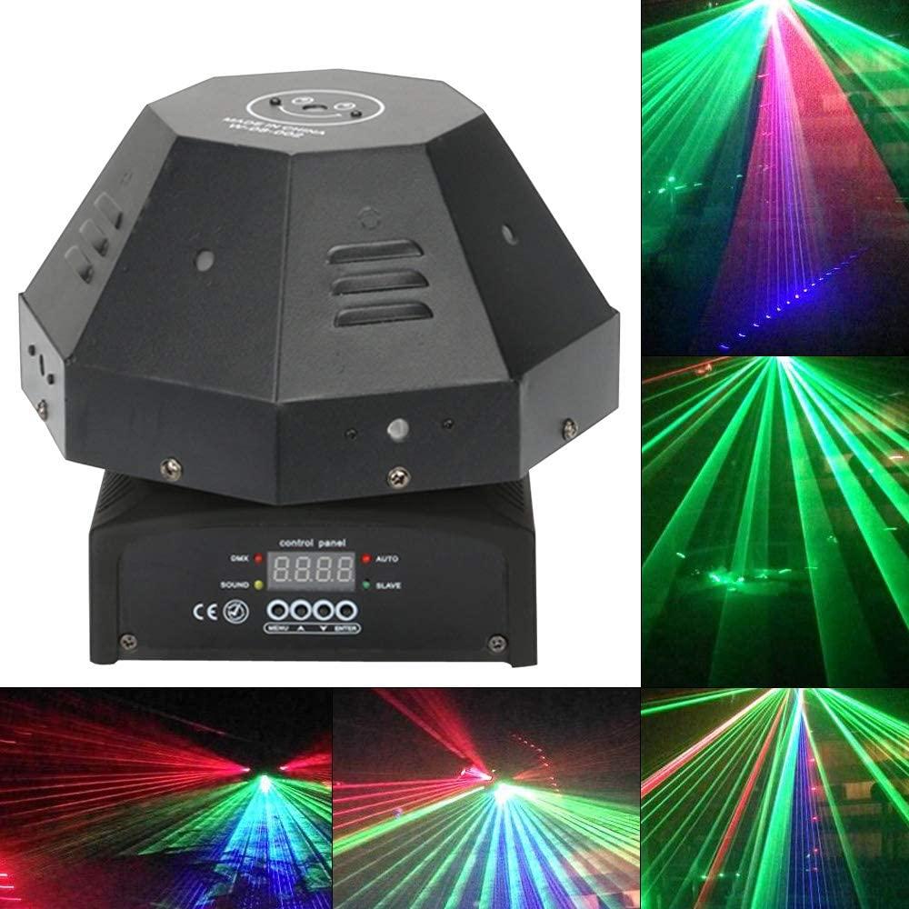 Dyrabrest RGB Beam Moving Head Light, 50W DMX512 RGB Color Stage Light Effect Lamp for Party KTV Event Show DJ Pub Club Wedding