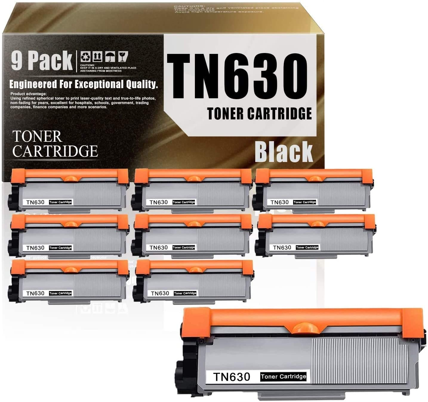 TN660(5-Pack Black) Compatible Toner Cartridge Replacement for Brother HL-L2300D HL-L2305W HL-L2315DW HL-L2320D HL-L2340DW HL-L2360DW HL-L2380DW MFC-L2680W MFC-L2685DW Printers