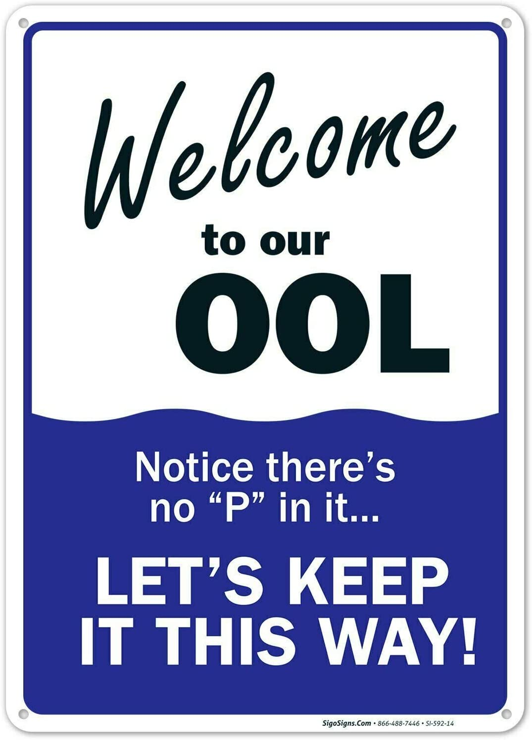 Welcome to Our ool Metal Sign Pool Rules Metal Plaque 12x8 Inches