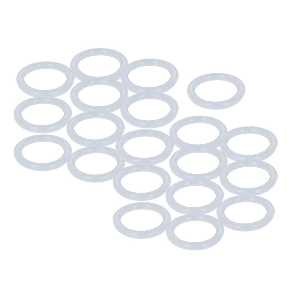 Othmro Silicone O-Rings, 16mm Inner Diameter, 22mm OD, 3mm Width, Seal Gasket 20pcs