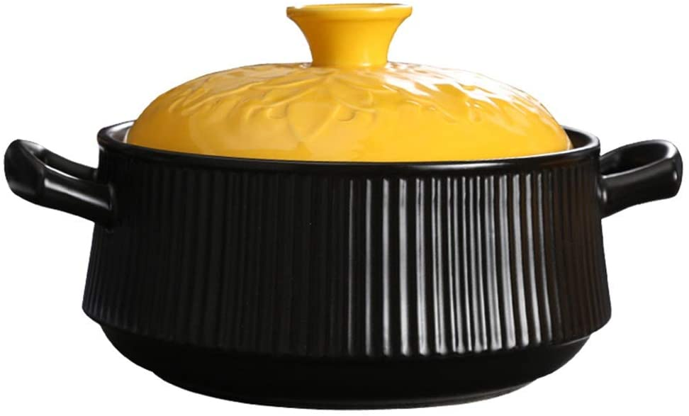GMING Clay Pot Casserole Cookware Ceramic Cookware - Durable, Safe And Healthy, Resistant To Cold And Heat, Easy To Clean (Color : A, Size : Capacity 4L)