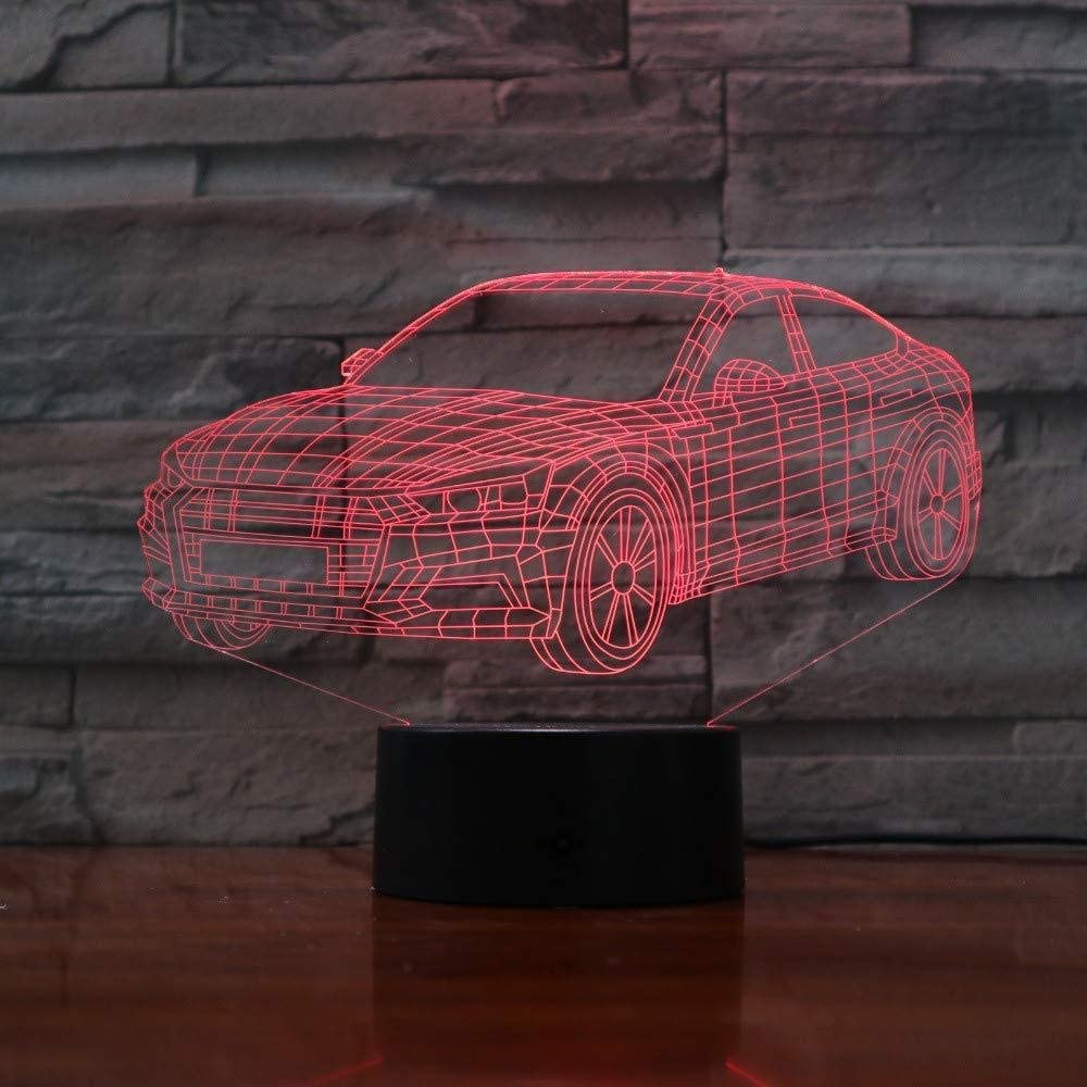 vbgdf Car Shape 3D Light 5V USB Led Night Light Acrylic Children s Lava Lamp 7 Color Touch Table Lamp Bar Home Decoration Children s Gifts