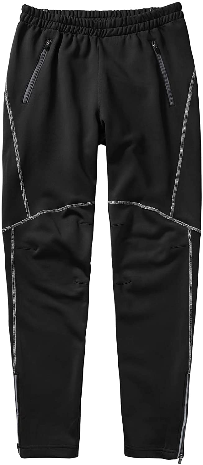 Men's Windproof Cycling Thermal Fleece Winter Pants Running Hiking Fleeced Outdoor and Multi Sports