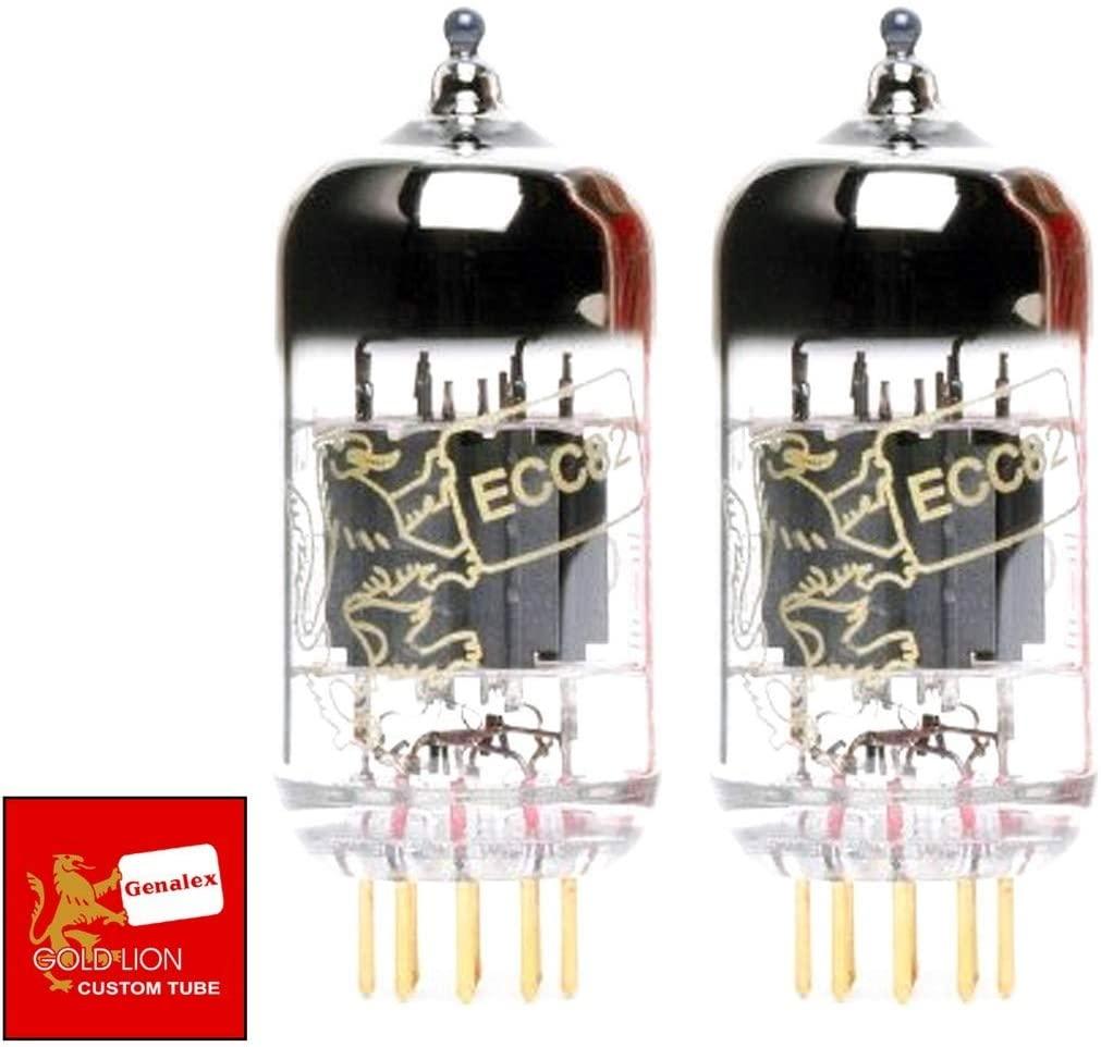 Genalex Gold Lion 12AU7 / ECC82, Matched Pair (2 tubes)
