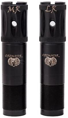 Carlson's Choke Tube Remington Cremator Ported Waterfowl Choke Tubes, 20 Gauge, MR & LR, Black