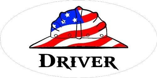 3 - Driver Hard Hat / Helmet Stickers 1 1/2