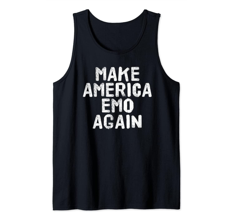MAKE AMERICA EMO AGAIN Funny Goth US Gift Idea Tank Top