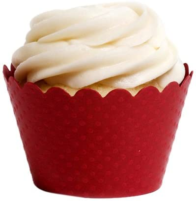 Dress My Cupcake Standard Red Cupcake Wrappers, Set of 12