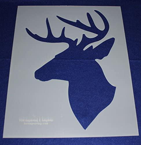 Buck-Deer Head Stencil (Side View) 17.5 Inch H X 14 Inch W