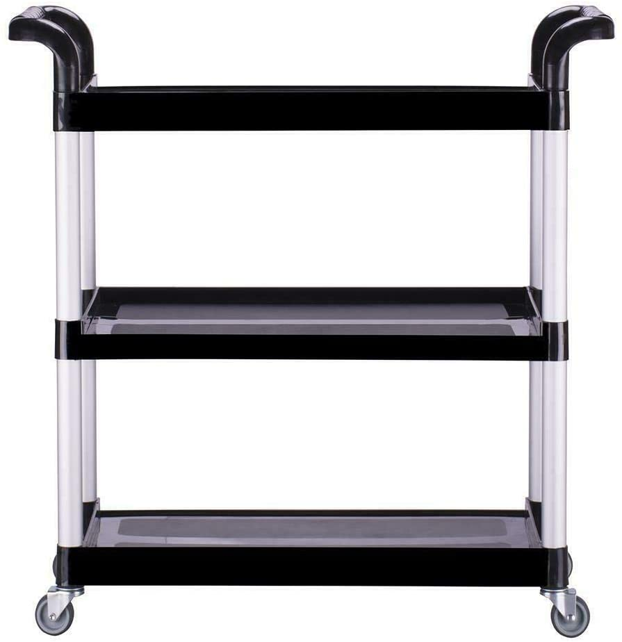 BAOLIANG 3 Tier Rolling Kitchen Cart with Handle, Storage Utility Cart Kitchen Island Storage Rack with Wheels, Hold Up to 390lbs