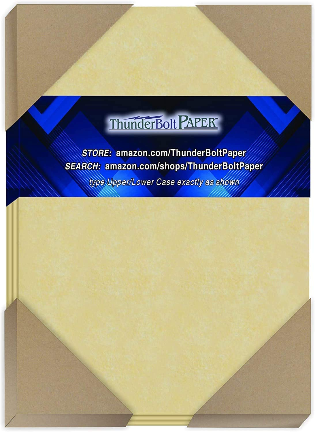 200 Gold Parchment 65lb Cover Weight Paper - 5