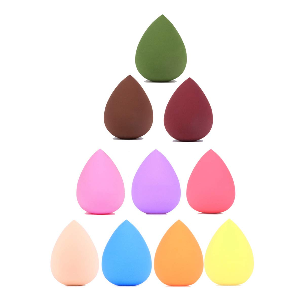 5PCS Makeup Sponge Set, Blender Beauty with Multiple Color, Latex-Free, Water Drop Shape, Both Dry and Wet, for Liquid Foundation, Cream (Random Color Delivery)