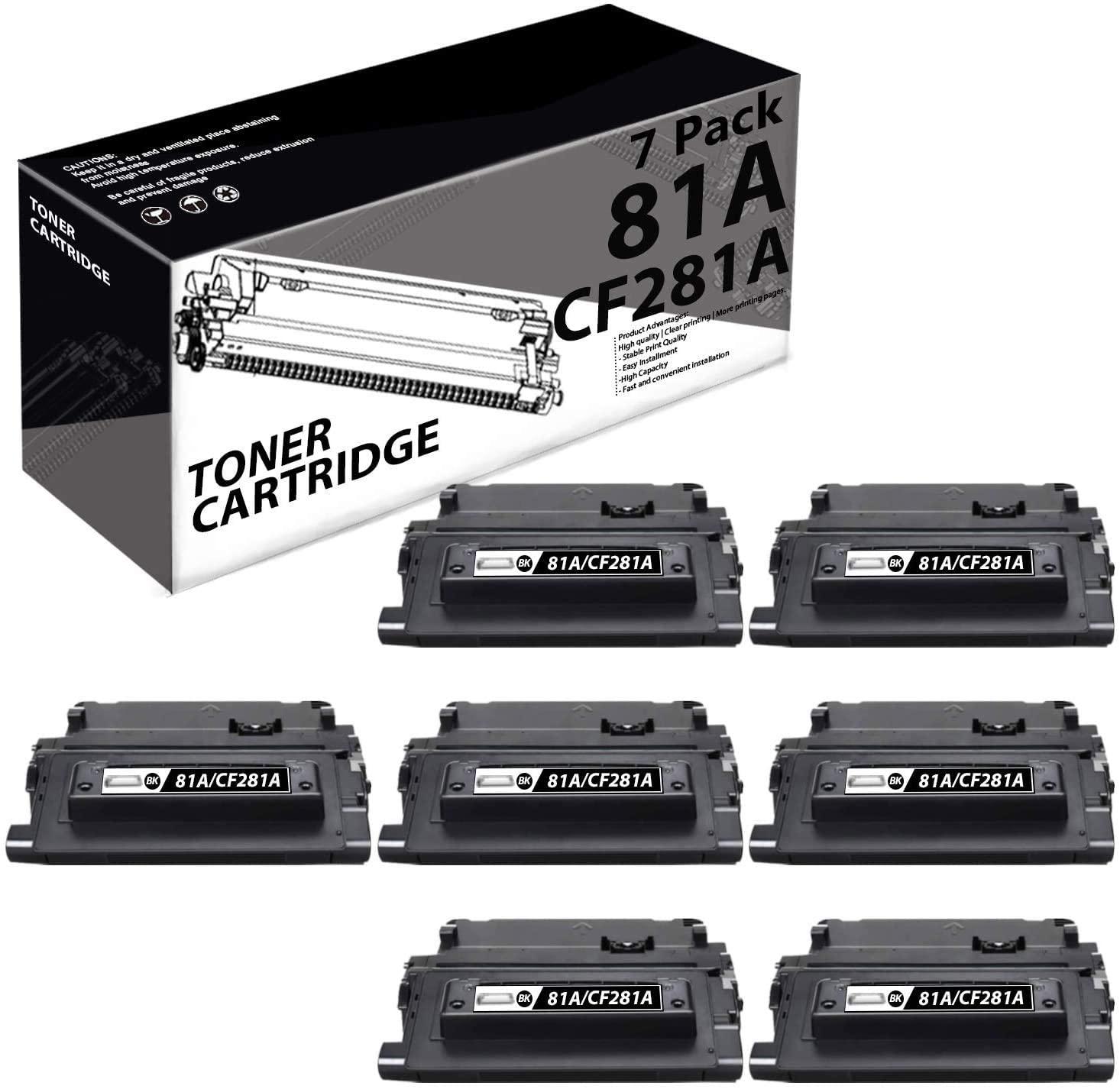 81A | CF281A(4 Pack-Black) Compatible Toner Cartridge Replacement for HP Laserjet Enterprise M606x M630h M604n M605dn M605x M606dn MFP M630f M604 M606 MFP M630 Printers.