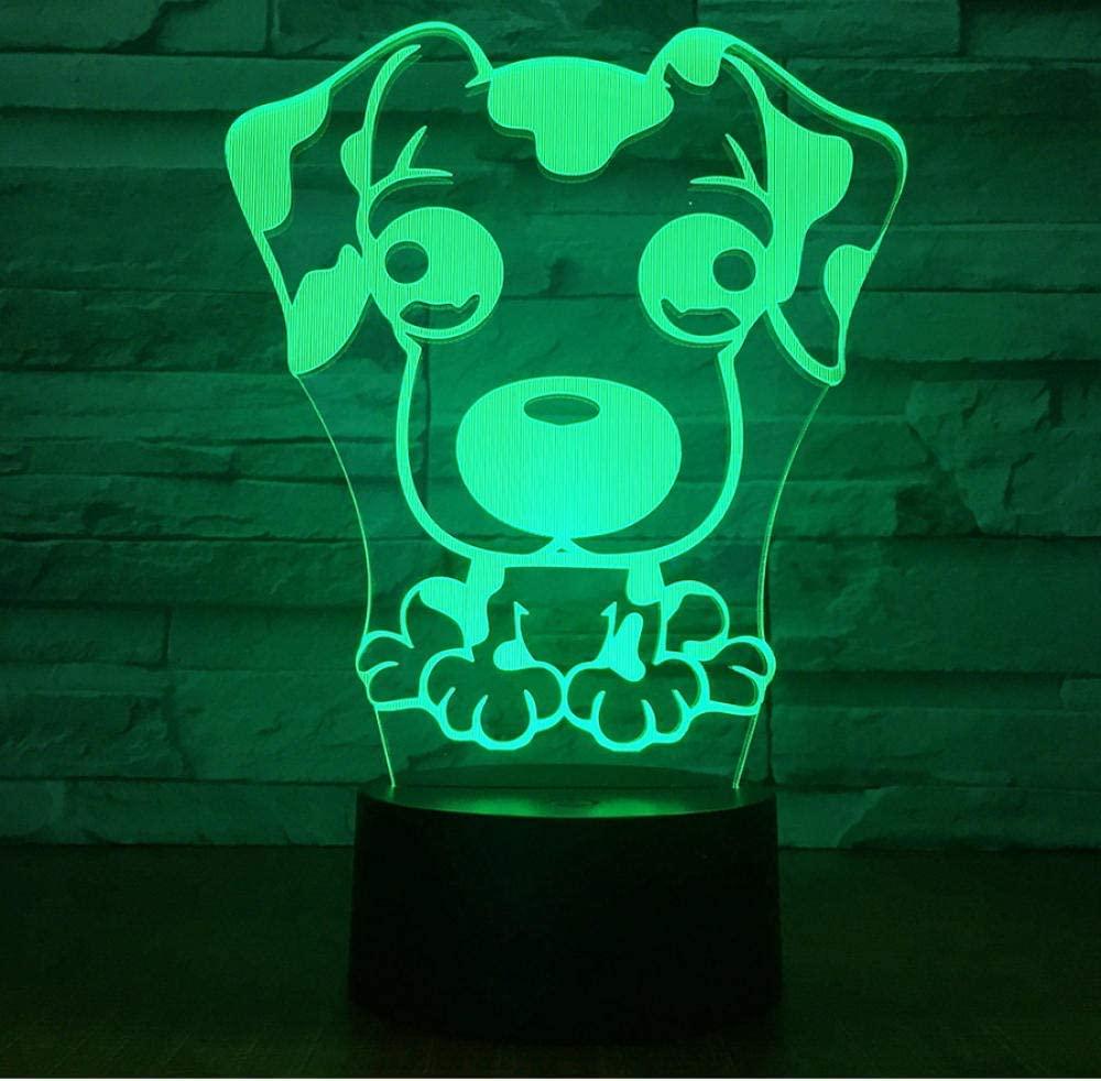 dsajgker Cute Puppy Big Ear Dog Led 3D Night Light 7 Color Changing Table Desk Lamp Bedroom Lava Light Decor Children Gift