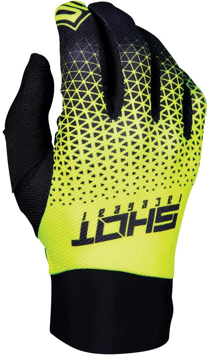 Shot Delta Men's Off-Road Motorcycle Gloves - Grey/Neon Yellow/X-Large