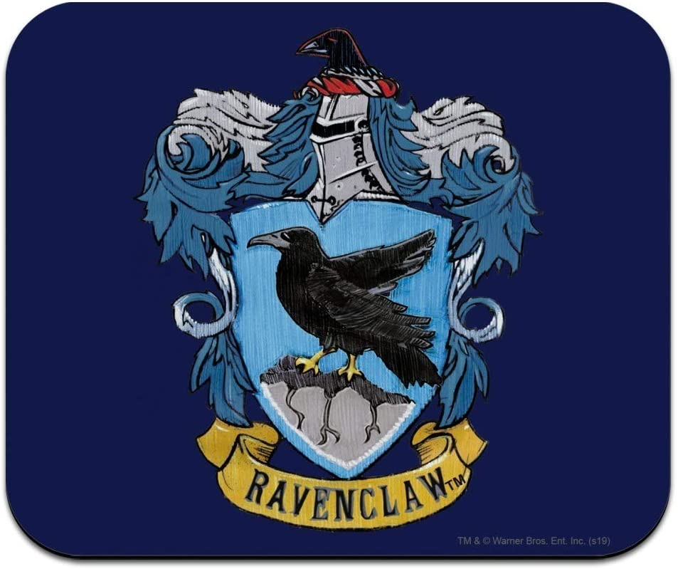 Harry Potter Ravenclaw Painted Crest Low Profile Thin Mouse Pad Mousepad