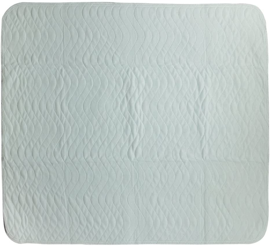Premium Quality Bed Pad Quilted Waterproof and Washable Super Absorbent Underpad Sheet Protector for Children or Adults with Incontinence - Green Blue, 45x60cm